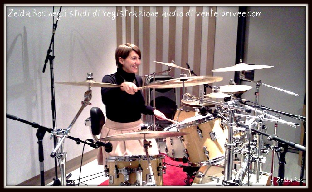 Zelda Roc simula un concerto negli studi di registrazione di vente-privee.com