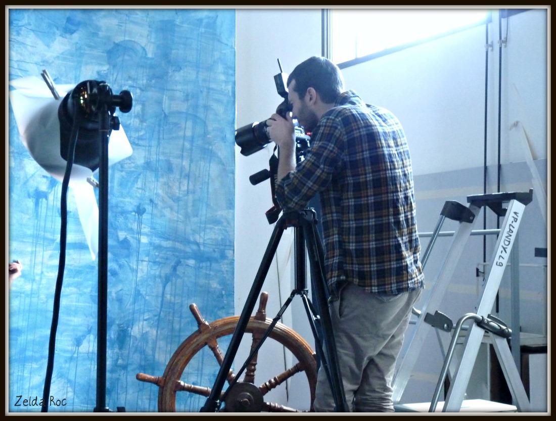 Fotografo durante uno shooting nella Digital Factory vente-privee.com