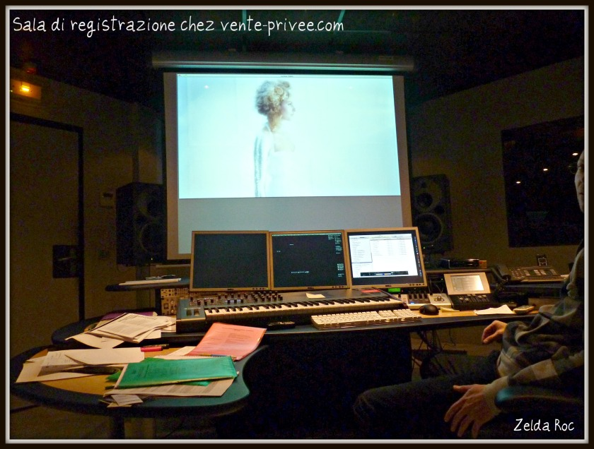 Studio di registrazione audio vente-privee.com, Parigi