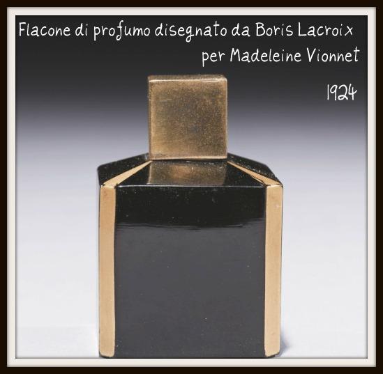 Flacone di profumo realizzato da Boris Lacroix per Vionnet