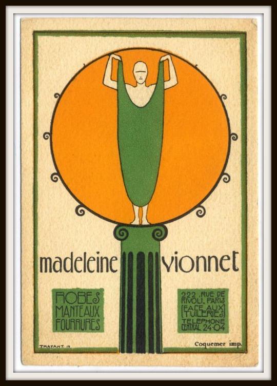 Logo Maison Vionnet disegnato da Ernesto Michahelles, detto Thayaht, 1922