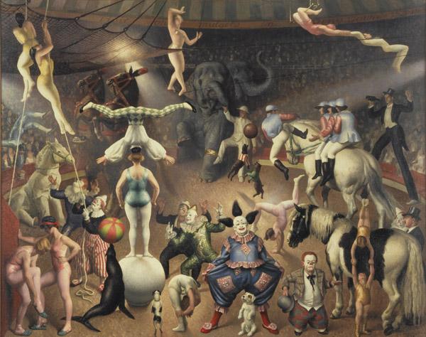 """Great Parade"", Laura Knight (1928)"