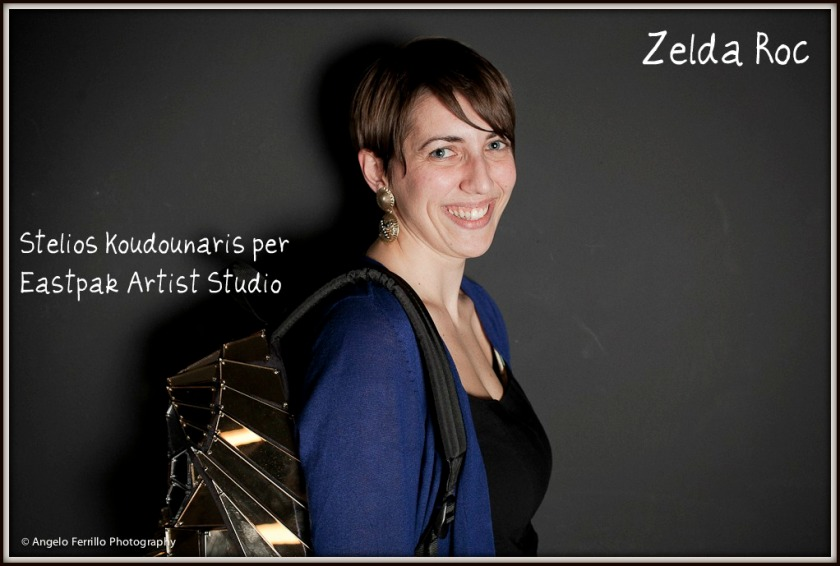 Zelda Roc con zaino di Stelios Koudounaris per Eastpak -Angelo Ferrillo Photography