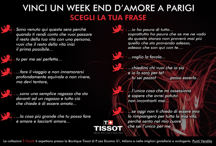 "Tissot - concorso ""A Touch of Love"""